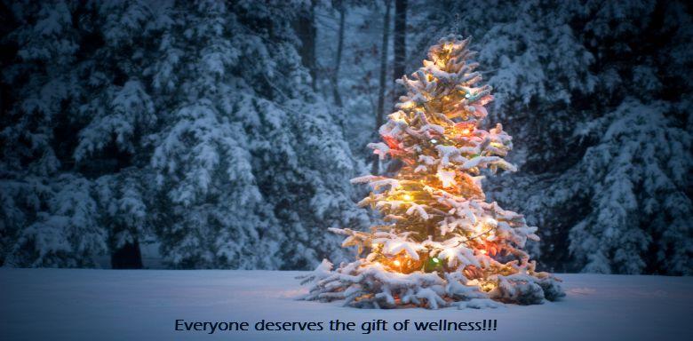 Christmas Tree with Words | Serenity Massage + Wellness Spa