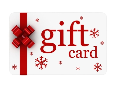 Gift Card with Red Bow | Serenity Massage + Wellness Spa